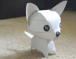 Готовый чихуахуа из оригами